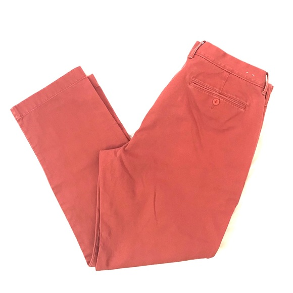 J Crew Mens Vintage Chino Pants Flat Front 36x30